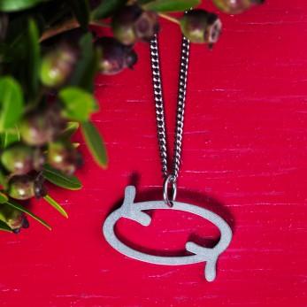 Ocelový náhrdelník Dobrá karma