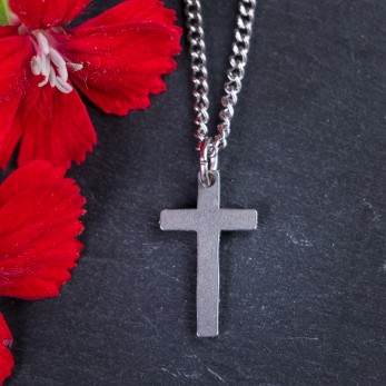 Ocelový náhrdelník Křížek