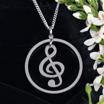 Ocelový náhrdelník Music