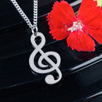 Ocelový náhrdelník Hudba