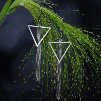 Visací ocelové náušnice Triangle