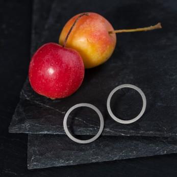 Ocelové náušnice pecky - Geometry - Circle