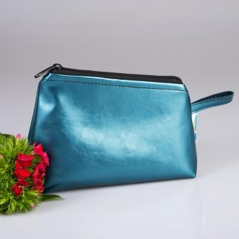 Kosmetická taštička Metallic Blue