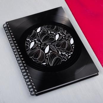 Diář z vinylových desek 2022 - Černé květy