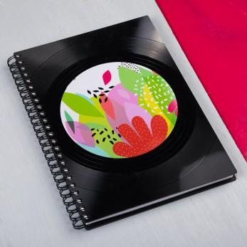 Diář z vinylových desek 2021 - Flora