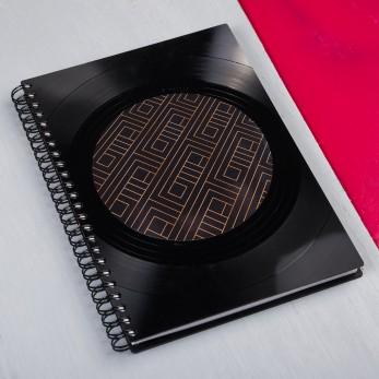 Diář z vinylových desek 2021 - Golden Geometry