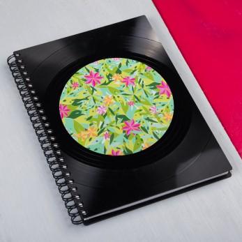 Diář z vinylových desek 2021 - Green Tropical