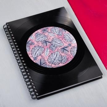 Diář z vinylových desek 2021 - Pink Tropical