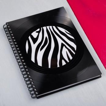 Diář z vinylových desek 2021 - Zebra