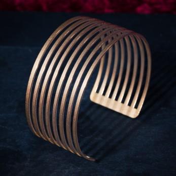 Ocelový náramek - Parallel Gold