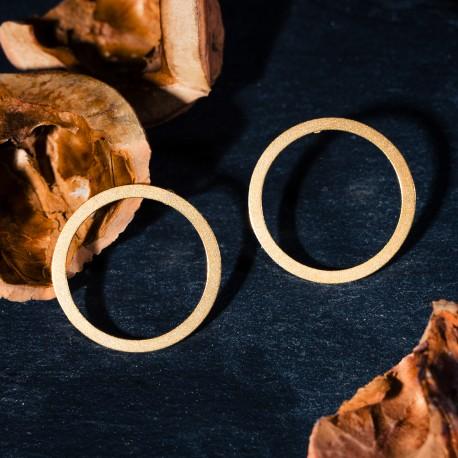 Ocelové náušnice pecky - Geometry - Circle Gold