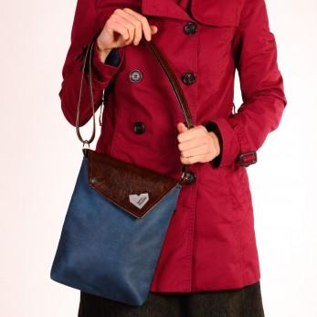 Dámská kabelka Malá Dafné - Blue Velvet