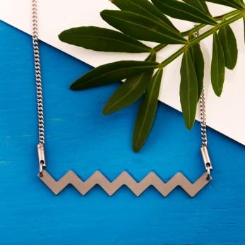 Ocelový náhrdelník - Geometry - Cikcak