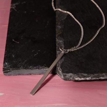 Ocelový náhrdelník - Geometry - Line Down