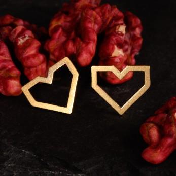 Ocelové náušnice pecky Lovemusic Gold