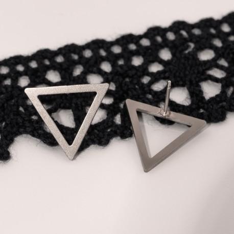 Ocelové náušnice pecky - Geometry - Triangle