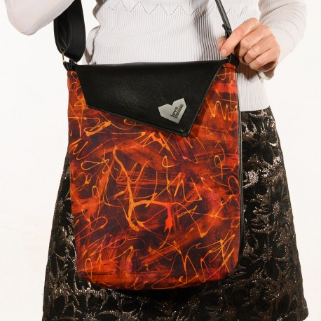 Dámská kabelka Dafné černá - Modrobílý puntíček
