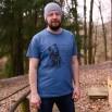 Pánské tričko modrošedé - Okamžiky