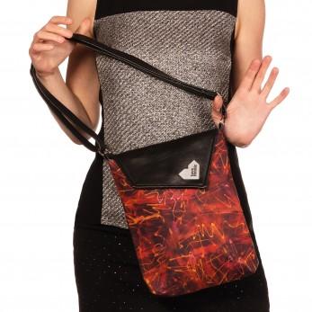 Dámská kabelka Malá Dafné černá - Ohnivé křivky