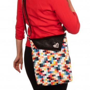 Dámská kabelka Dafné černá - Barevné pixely
