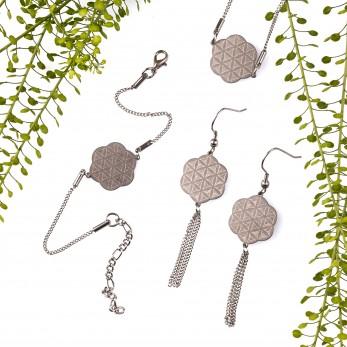 Sada ocelových šperků Linear Light