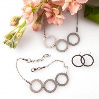 Sada ocelových šperků Circle
