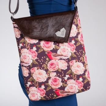 Dámská kabelka Dafné bez zipu - Hnědá - Roses