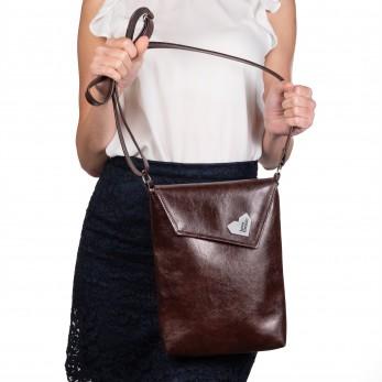 Dámská kabelka Malá Dafné - hnědá