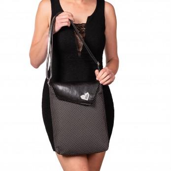 Dámská kabelka Dafné - černá - Puntíček Černobílý