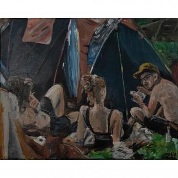 Obraz - Banát - kemping