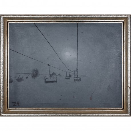 Obraz - Za světlem (lanovka)