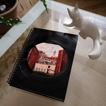 Diář z vinylových desek 2020 - Bleděmodrá tečka