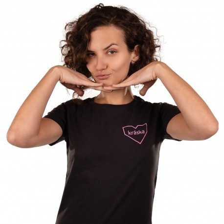 Dámské tričko černé - Kráska