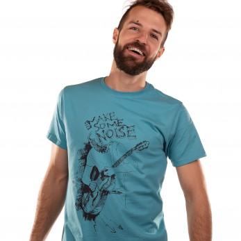Pánské tričko modré - Make some noise