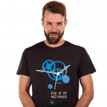 Pánské tričko černé - Čas je víc než peníze