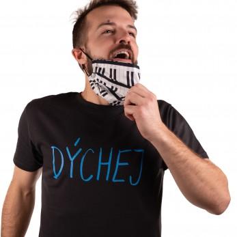 Pánské tričko černé - Dýchej