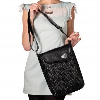 Dámská kabelka Dafné černá - Black Pattern