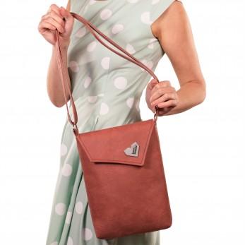 Dámská kabelka Malá Dafné - starorůžová