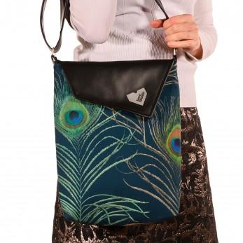 Dámská kabelka Dafné černá - Paví pera