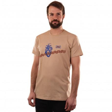 Pánské tričko světlé-Bečva teče skrze naše srdce