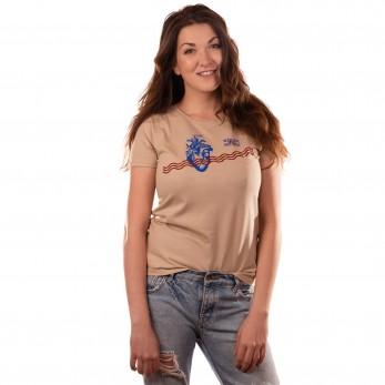 Dámské tričko světlé- Bečva teče skrze naše srdce