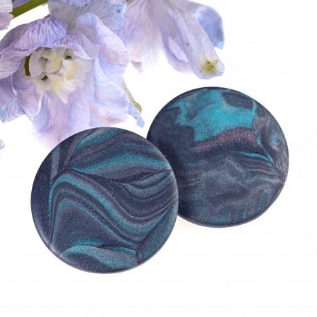 Náušnice Cosmos - fialové