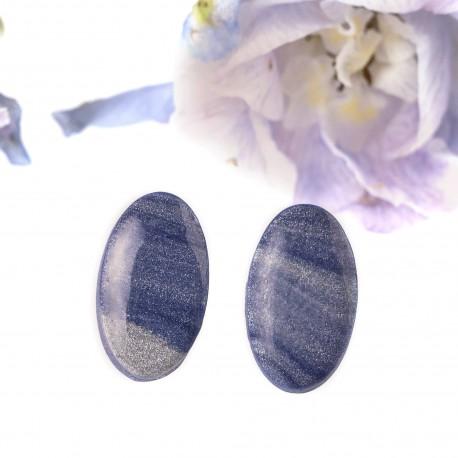 Náušnice pecky Oval - Moon
