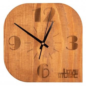 Dřevěné hodiny - Rounded