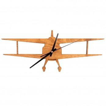 Dřevěné hodiny - Dvouplošník