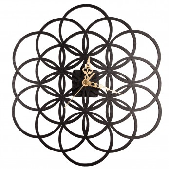 Černé hodiny - Květ života