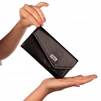Dámská peněženka - černá lesklá