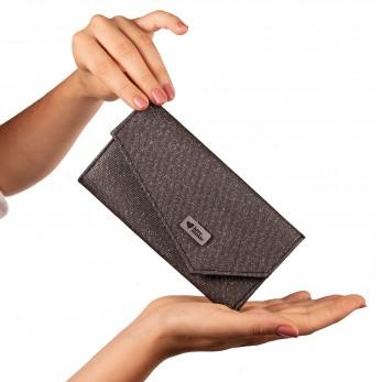 Dámská peněženka - Tmavě stříbřitá