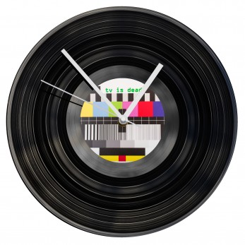Gramofonové hodiny - Tv is Dead