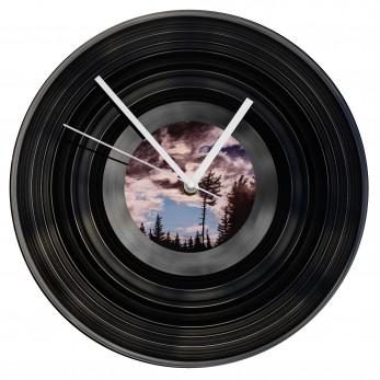 Gramofonové hodiny - Black and White